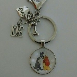 Accessories - Disney Lady and the Tramp Keychain/Purse Dangle